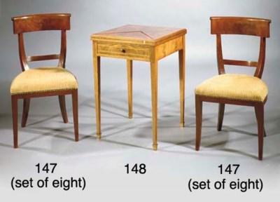 (8) A set of eight Dutch mahog