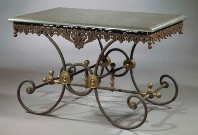 A cast-iron, wrought-iron and