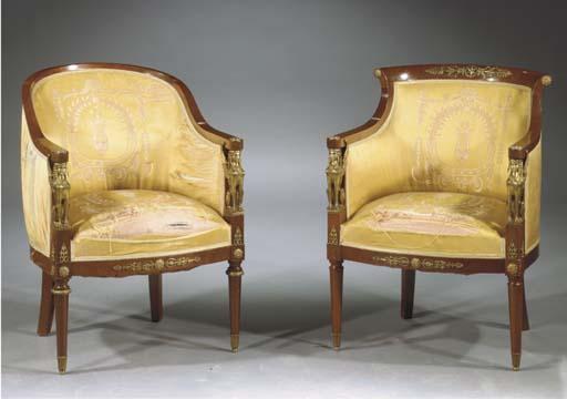 (2)  Two French gilt-metal mou