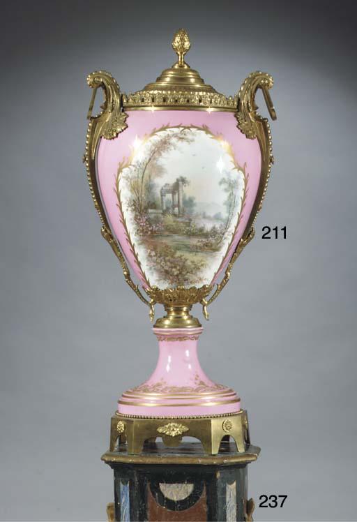 A large Sevres-style porcelain