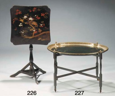 An Edwardian gilt and japanned