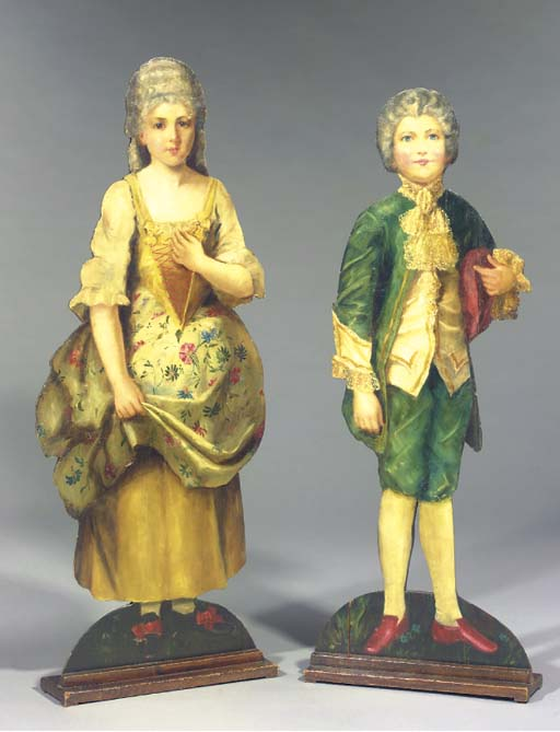 (2)  A PAIR OF ENGLISH PAINTED