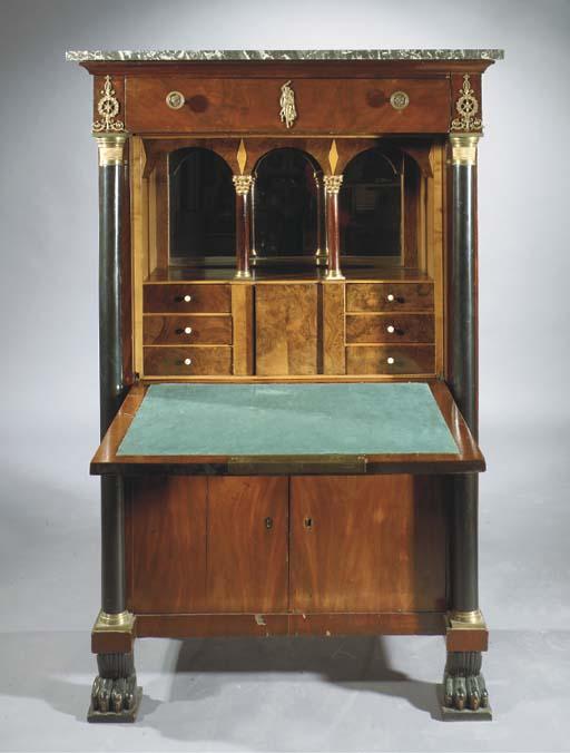 An ormolu-mounted, mahogany an