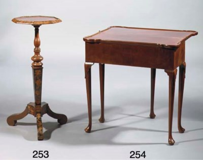 An English mahogany games tabl