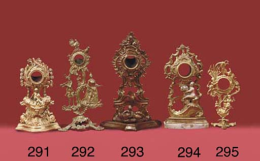 A giltwood watch stand