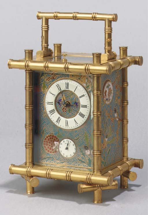 A brass and cloisonne enamel c