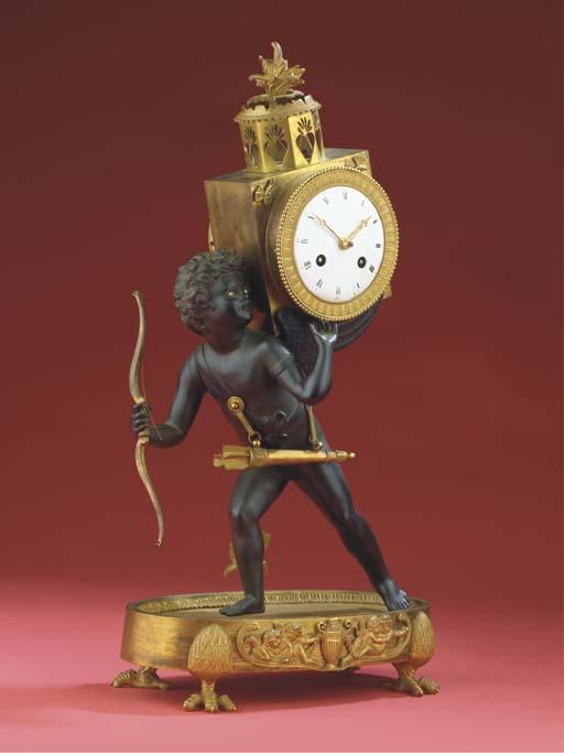 A Directoire bronze and ormolu