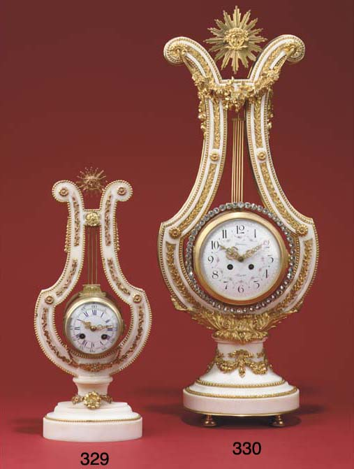 A French white marble and gilt