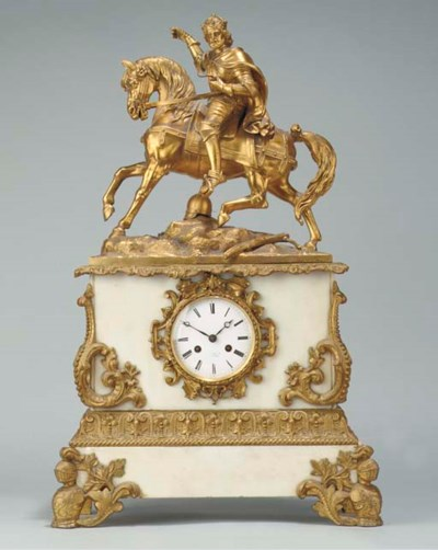 A Belgian gilt-spelter and whi