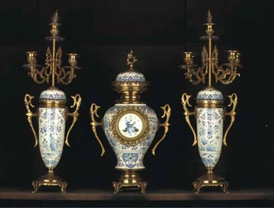 A Dutch Delftware metal-mounte