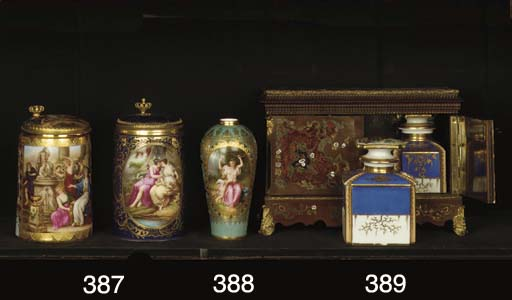 (2)  Two Vienna-style porcelai
