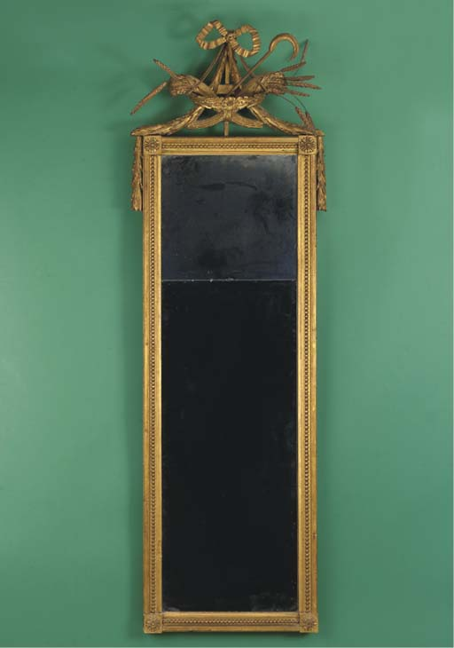 A Dutch giltwood mirror
