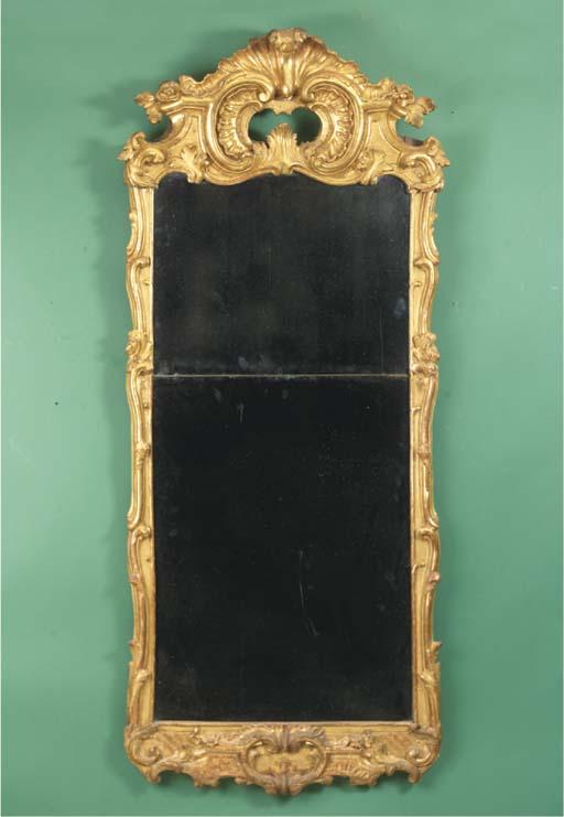 A giltwood mirror