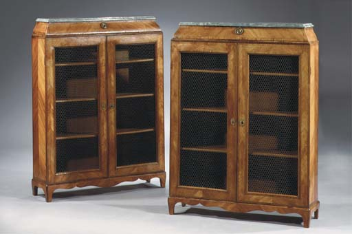 (2)  A pair of Dutch tulipwood