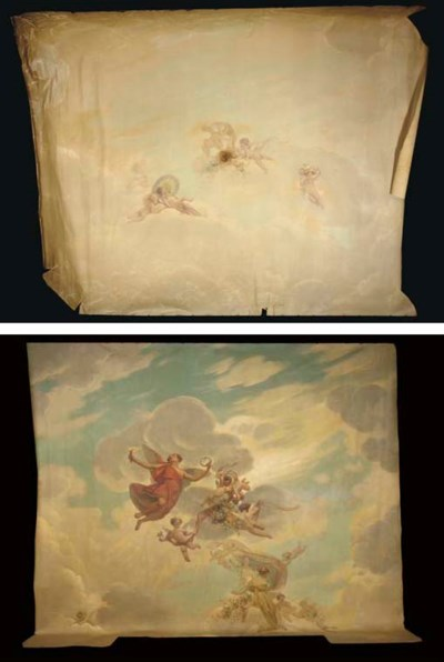 (2)   Two ceiling paintings