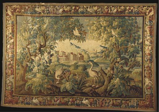 An Aubusson Verdure tapestry