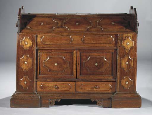 A North Italian walnut chest '