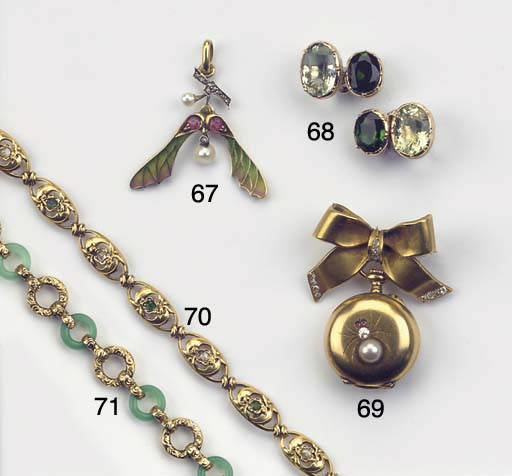 A GOLD OPENFACED FOB WATCH WIT
