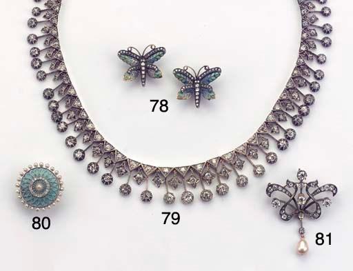 (2) AN ANTIQUE DIAMOND NECKLAC
