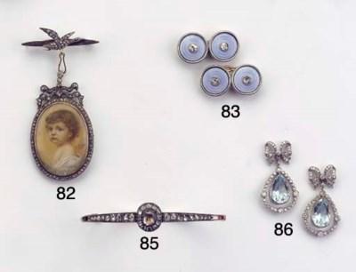 (6) A DIAMOND AND ENAMEL DRESS