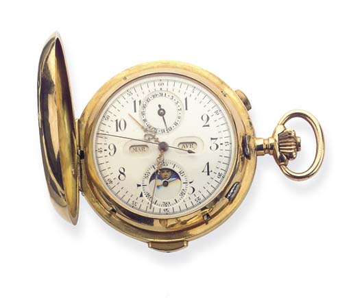AN 18K GOLD MINUTE REPEATING T