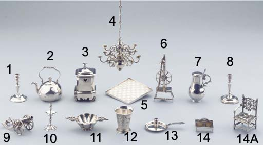 A Dutch silver miniature chess