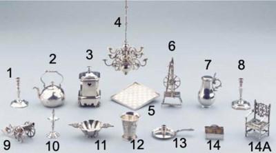 A Dutch silver miniature spinn