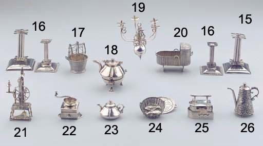 A Dutch silver miniature diape