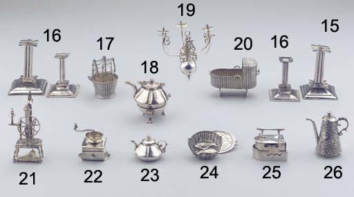 A Dutch silver miniature teapo