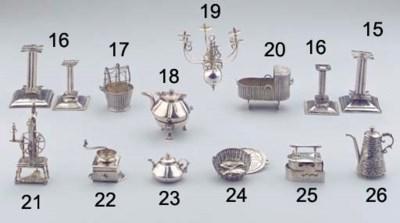 (3) A Dutch silver miniature f