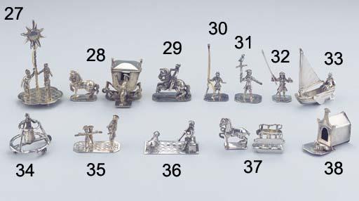 (2)  A Dutch silver miniature