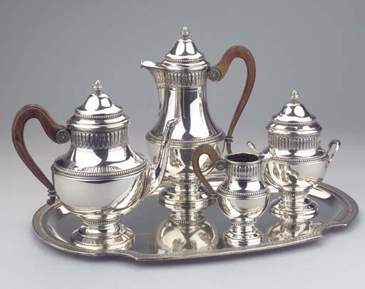 (5) A Belgian silver four-piec