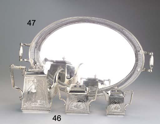 A Dutch silver oval tray