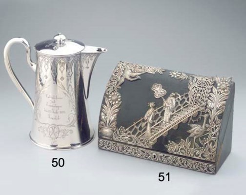 An English silver chinoiserie
