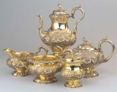 (5)  An English silver-gilt co