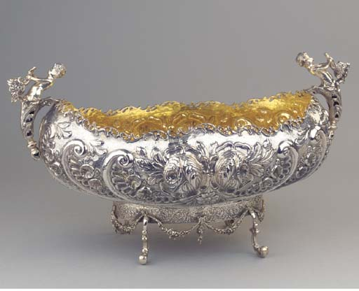 A large silver tureen