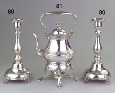 (2) A pair of German silver ca