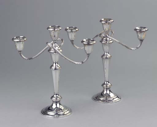 (2)  A pair of American silver