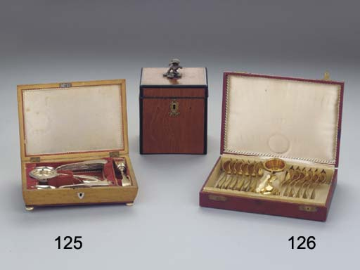 (2) A wooden spoonbox with imp
