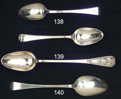 A large Dutch silver spoon