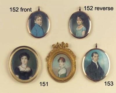 (2)  Two oval portrait miniatu