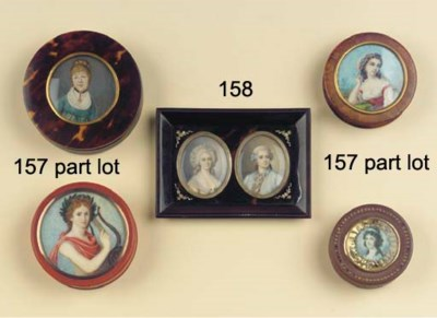 (6) Six various snuff-boxes