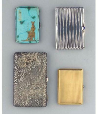 (4)  Three various silver ciga