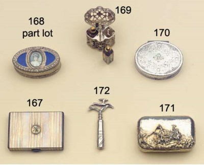 (3)  A silver and enamelled sn