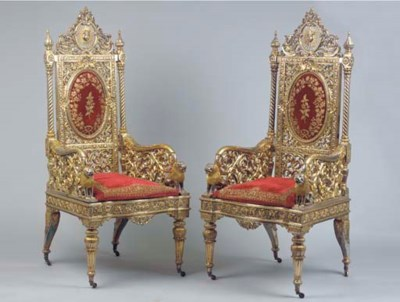 (2)  A Pair of Indian parcel-g