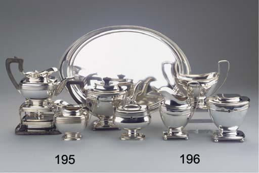 (4) A Dutch silver three-piece