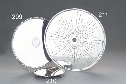 A Dutch silver circular salver