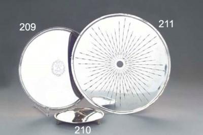 A Dutch silver circular strain