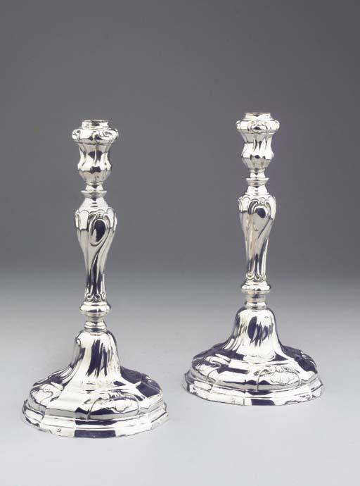 (2)  A pair of Dutch silver ca