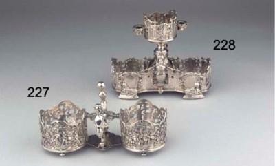A Dutch silver cruet-frame